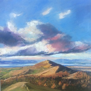 Malvern hills oil painting by Anna Cumming