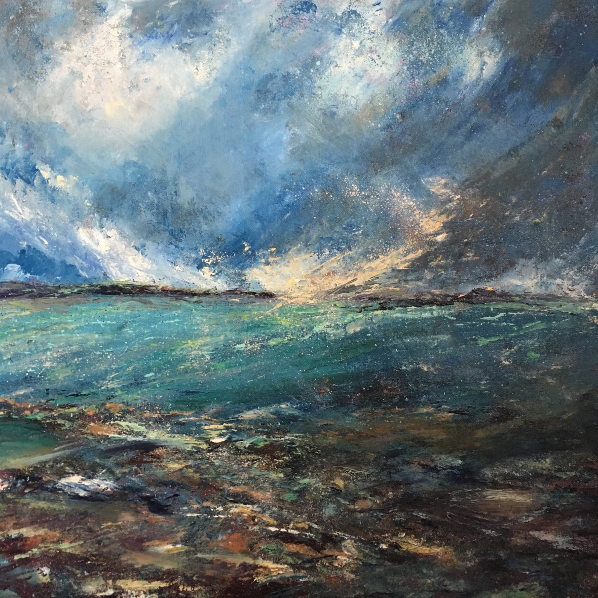 Somewhere out there seascape oil painting by ANNA cumming