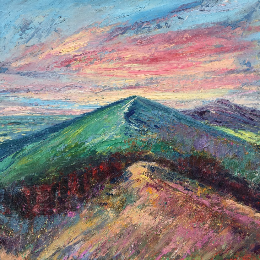 Dreaming (Malverns) 50cm square