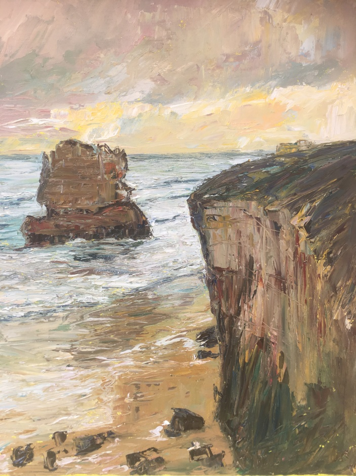 Along the Great Ocean Road 40x50cms