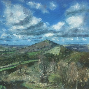 Summer Malvern hills oil painting by Anna Cumming
