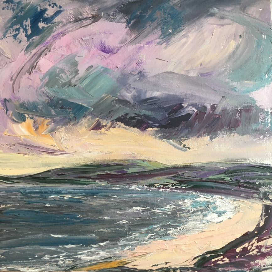 Hebridean Winter, 30cm square