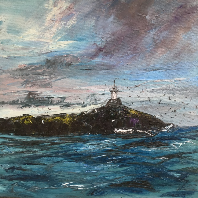 Corryvreckan lighthouse, 30cm sq
