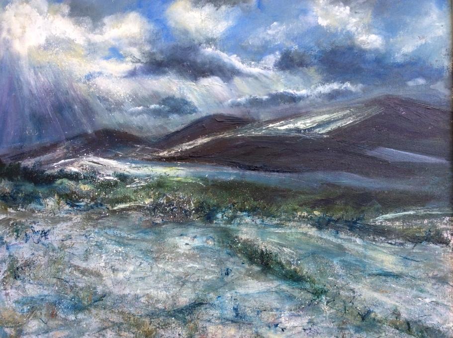 West Malvern winter, 40x50cms