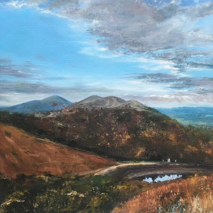 Autumn - Malvern Hills, 50cm sq
