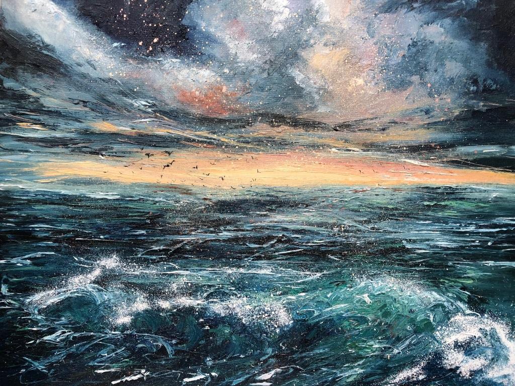 Ocean Elixir oil painting by Anna Cumming