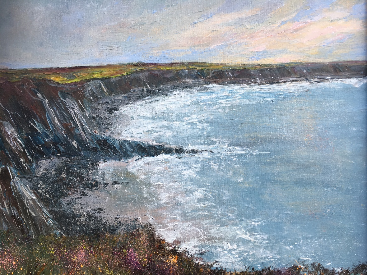 Marloes Pembrokeshire oil painting by Anna Cumming