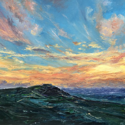 February sunset, British Camp. 50cm sq