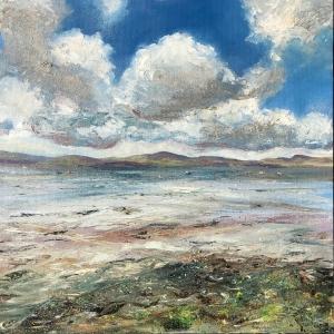 Carsaig Bay, Tayvallich oil painting by Anna Cumming