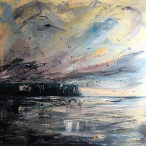 Winter song moody seascape by Anna Cumming