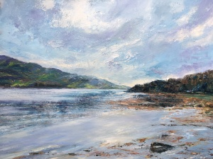 Loch Sween oil painting by Anna Cumming