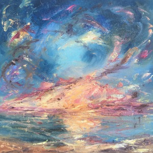 Sea spirits romantic seascape oil painting by Anna Cumming