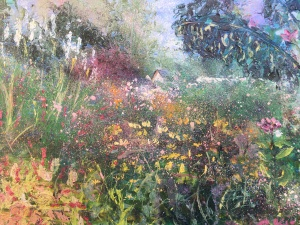 Gardens oil painting by Anna Cumming