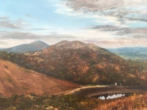 Malvern hills oil painting by contemporary artist Anna Cumming