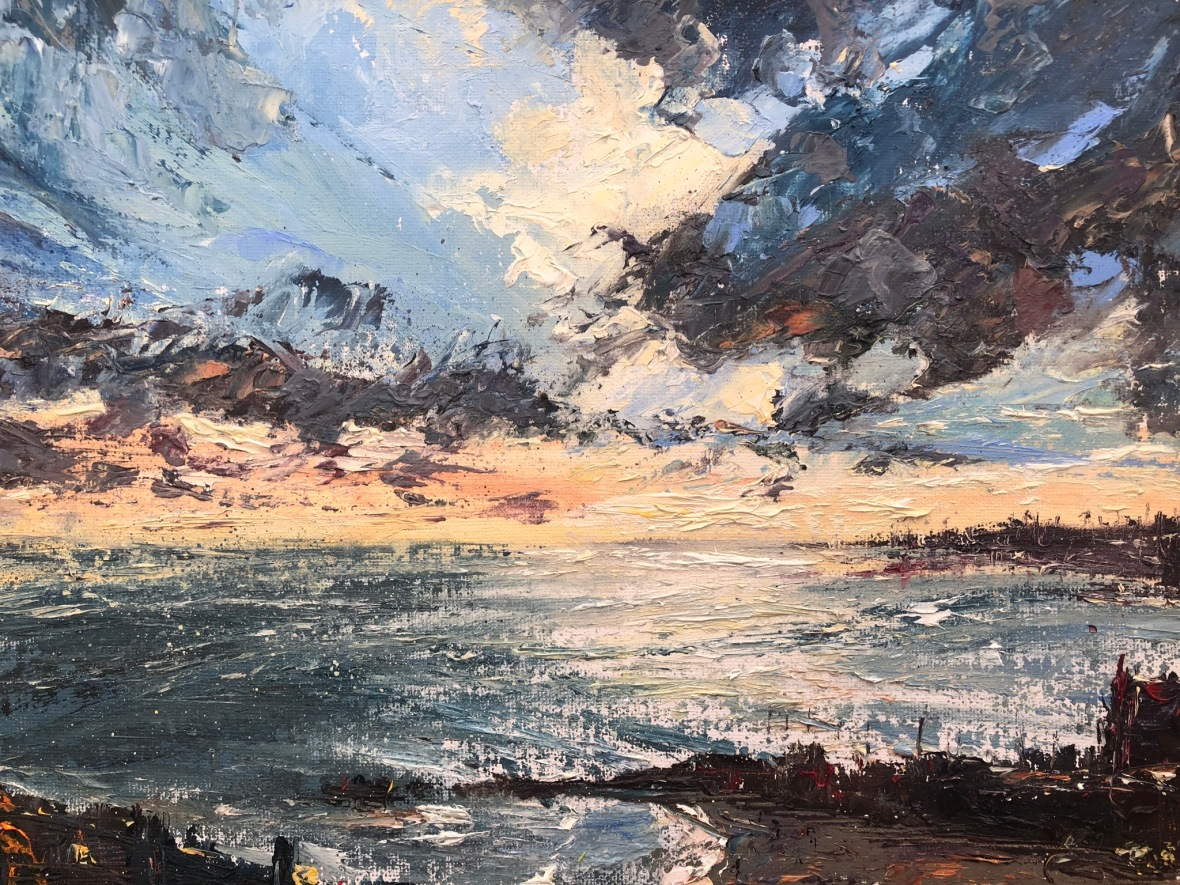 St Ives oil painting by contemporary artist Anna Cumming