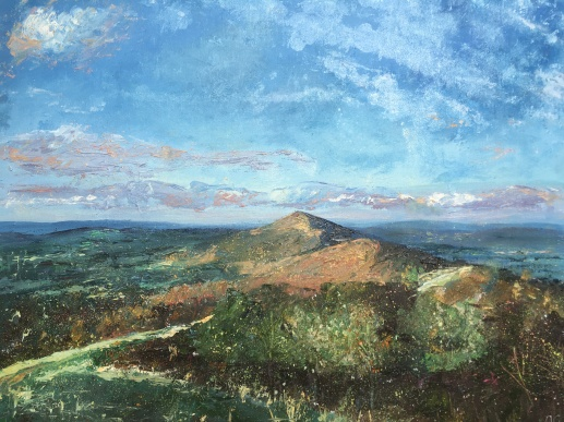Autumn sunshine - Worcestershire Beacon, 40x50cms
