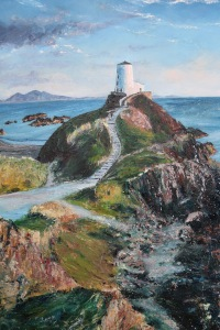 Lighthouse oil painting by Anna Cumming