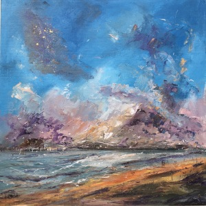 Early birds, romantic seascape by contemporary artist Anna Cumming