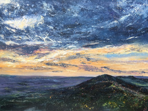 Malverns autumn sunrise, 40x50cms