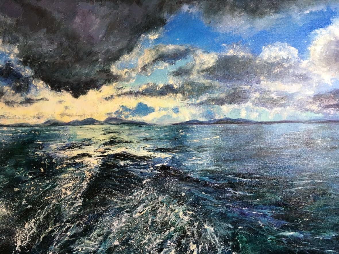 Returning to Oban seascape by contemporary artist Anna Cumming