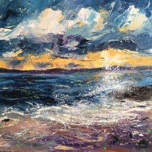 Sunrise St Ives, seascape by Anna Cumming