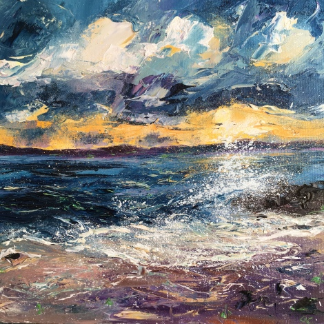 Sunrise, St Ives, 30cm sq