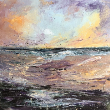 Kiss the wind, romantic seascape by Anna Cumming