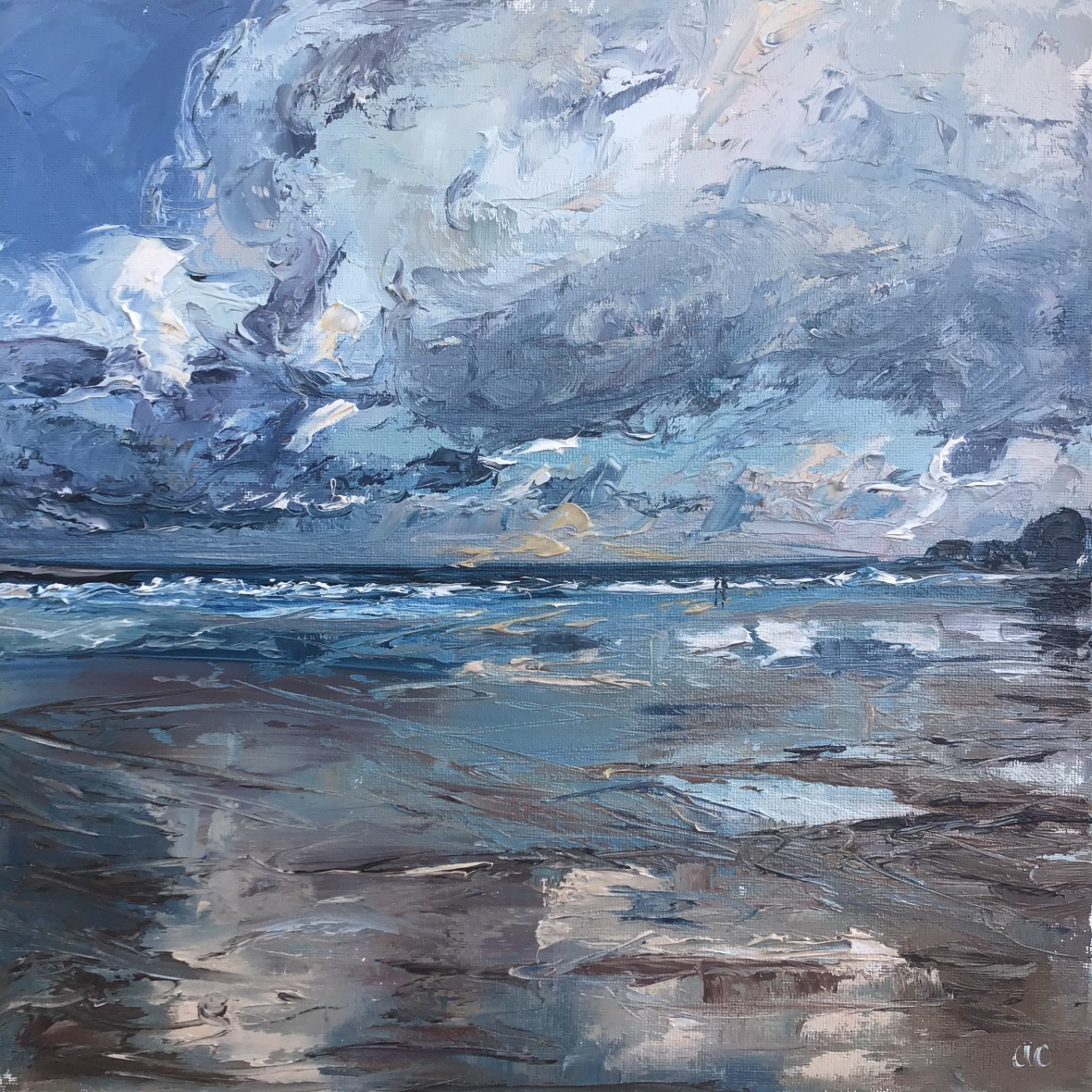 Just us, seascape by Anna Cumming