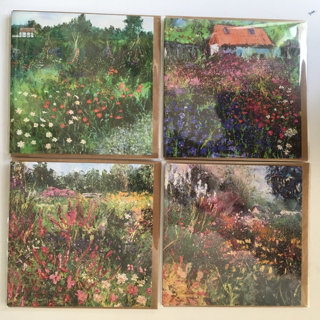 Allotments and gardens greeting cards for sa,e by Anna Cumming