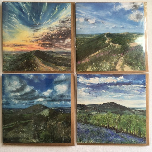Malvern hills greeting cards for sale by Anna Cumming
