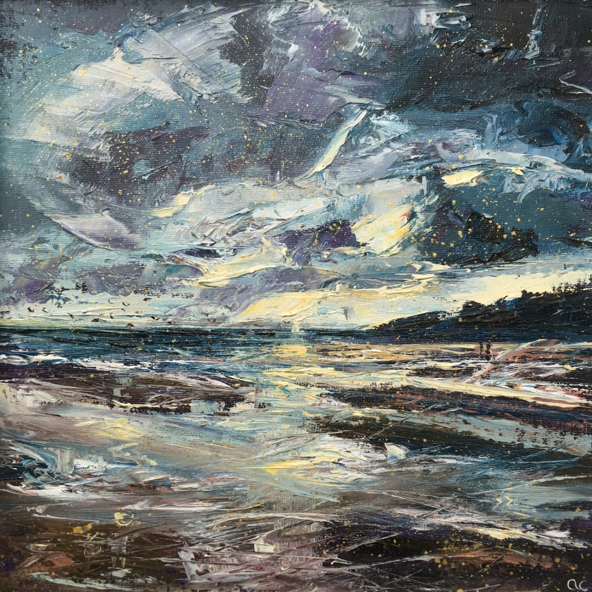 Twilight walk, oil painting by Anna Cumming
