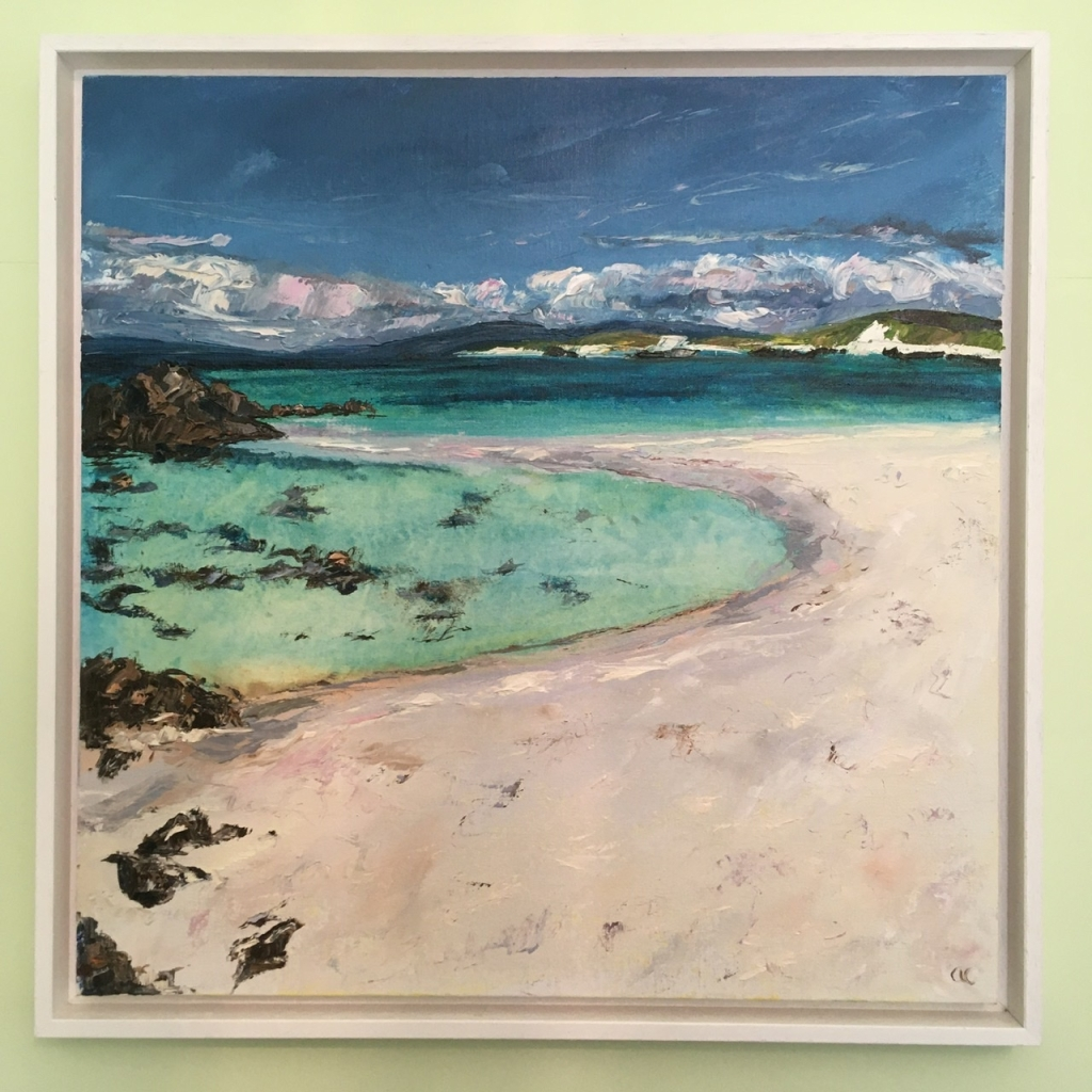 Clear waters, Iona, an oil painting by Anna Cumming