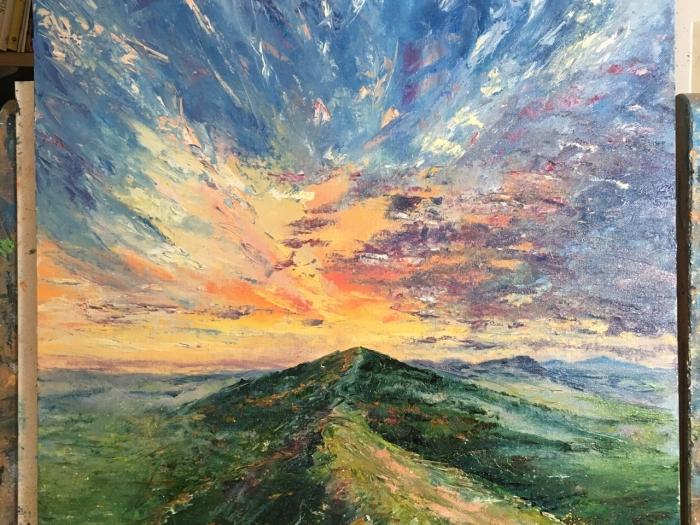 Malvern hills firecracker sunset