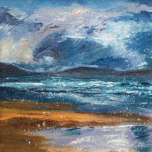Winter day, Embo, oil painting by Anna Cumming