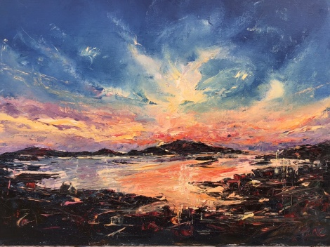 Sunrise Barra, oil painting by Anna Cumming