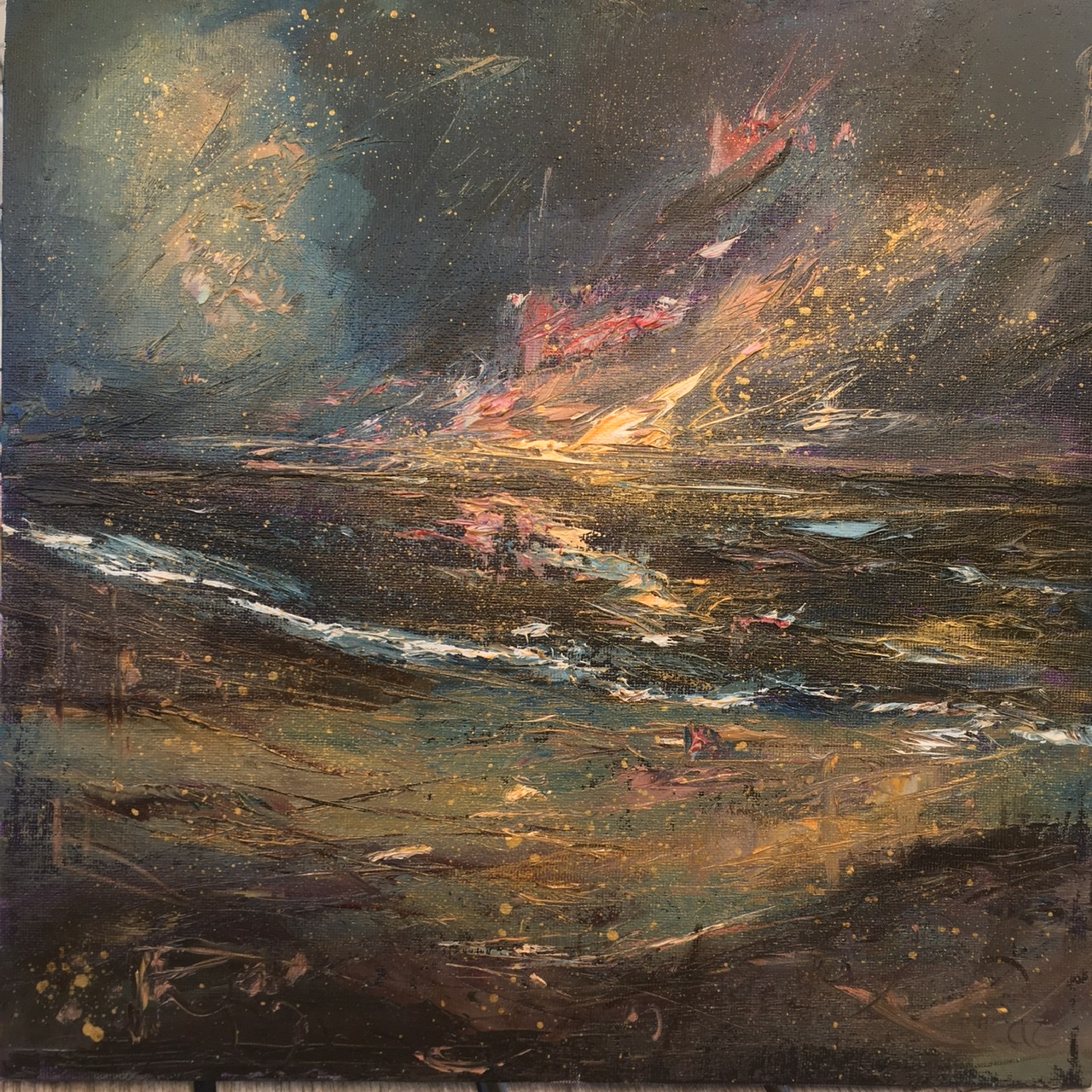 Dusk falling, oil painting by Anna Cumming