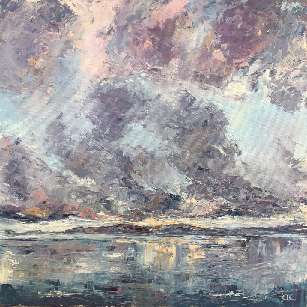 Loch Sween ll, oil painting by Anna Cumming