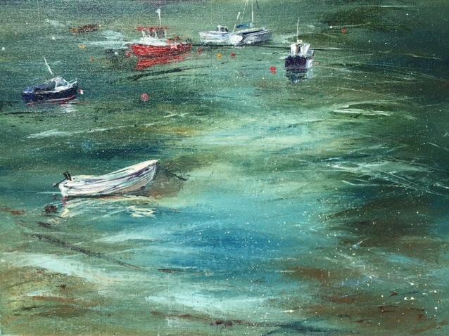 Little red boat, Tayvallich bay