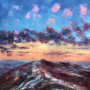 Dancing clouds and snow dusted Malvern hills