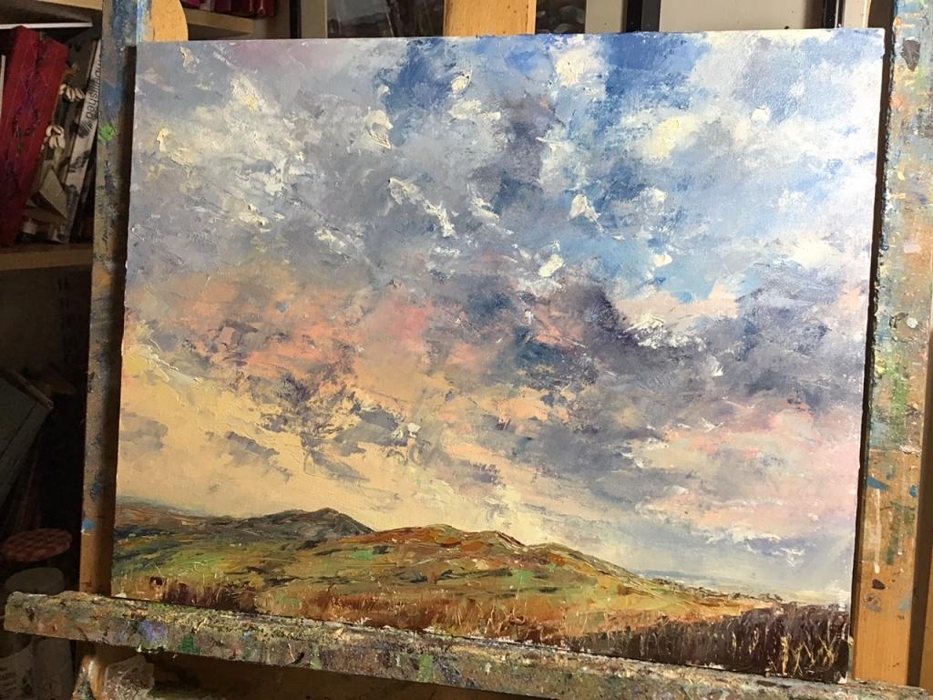 Malvern hills sunset