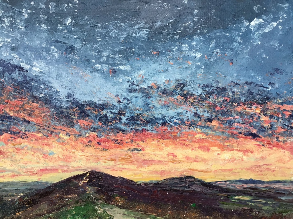 Jewelled sky, Malverns