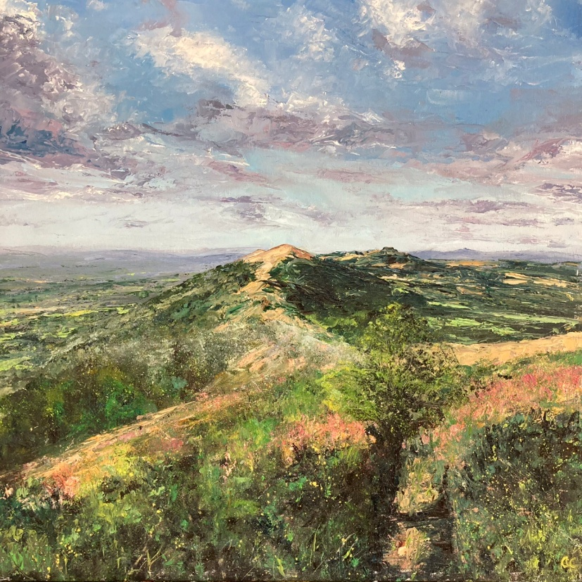 End of summer, Malverns hills, 50cm sq