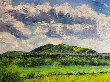 The Malvern hills, 40x50cms