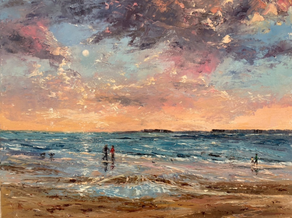 Glorious day, St Ives, 40x50cms
